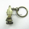 Fashion metal  miniature key ring