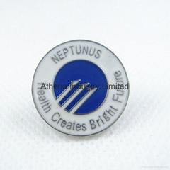 滴油金属徽章