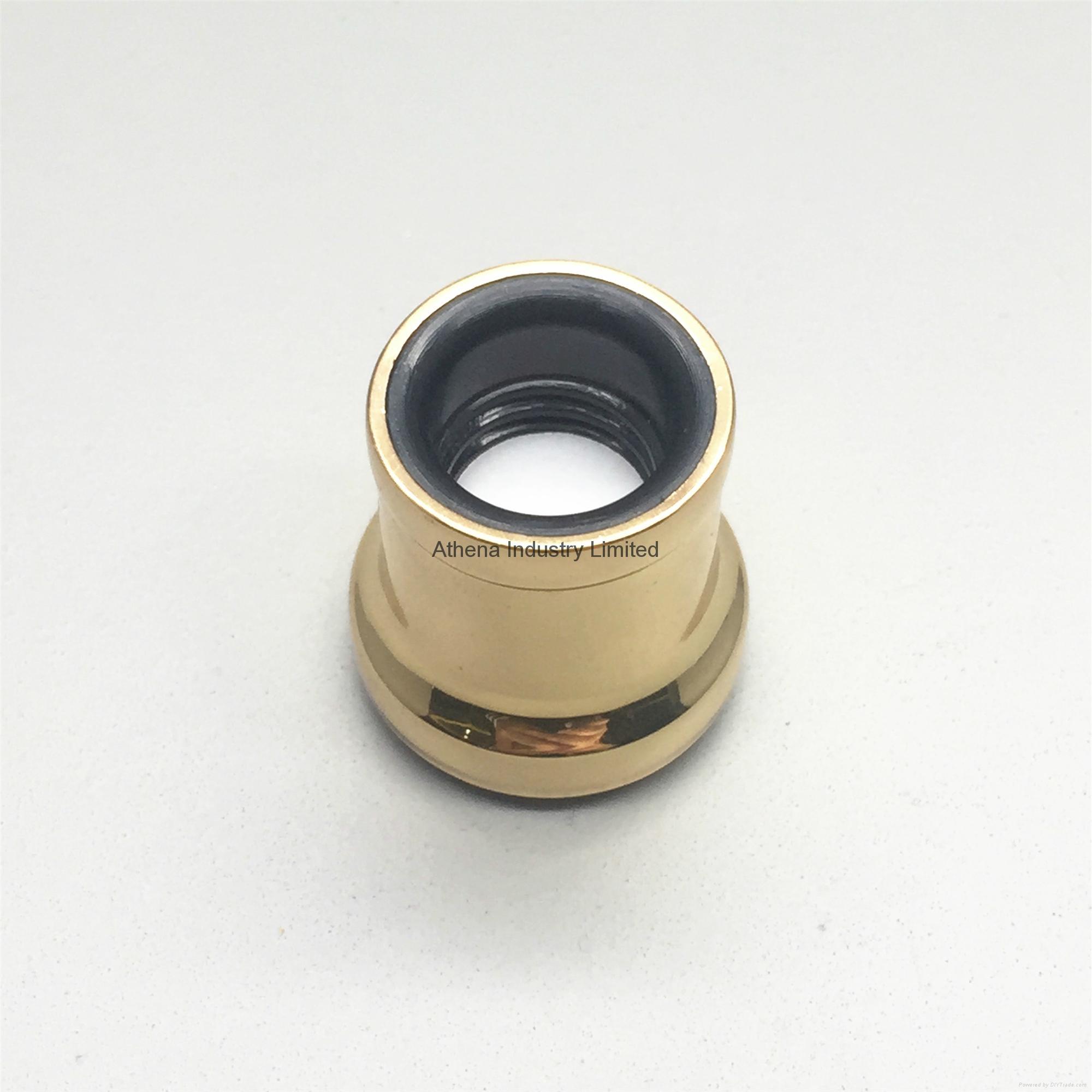 Gold electroplating round perfume cap 2