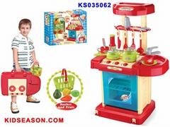 过家家灯光音乐厨具台玩具