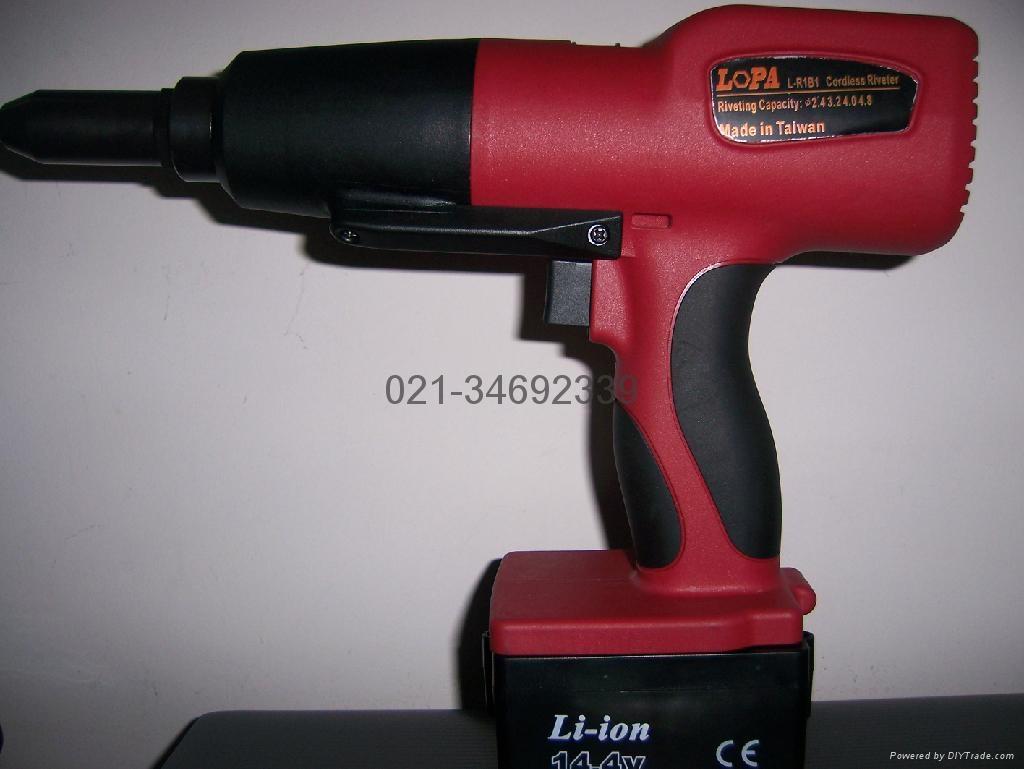 台湾老牌LOPATOOL充电式电动抽芯拉铆铆钉枪 1