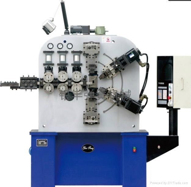 鎮江電腦六軸6mm汽配壓簧成型機 1