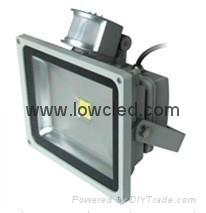 20w led flood light IP65 PIR Bridgelux 3years warranty with CE, ROHS certificate