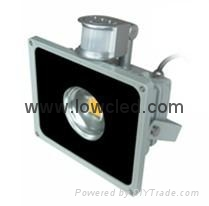 20w high bright PIR IP65 led flood light/licht with CE, ROHS, EMC, LVD approved