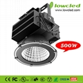 LOWCLED 500W high power IP65 CREE XML-2+MEANWELL LED High Bay Light with CE+ROHS