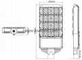 IP65 160W Osram High power MEAN WELL led street light
