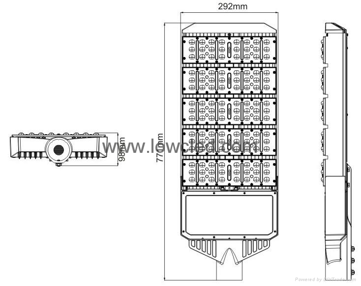LOWCLED IP65 220W Osram High power MEAN WELL led street light