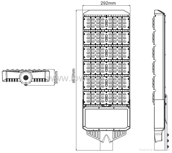IP65 260W Osram High power MEAN WELL led street light with CE, ROHS