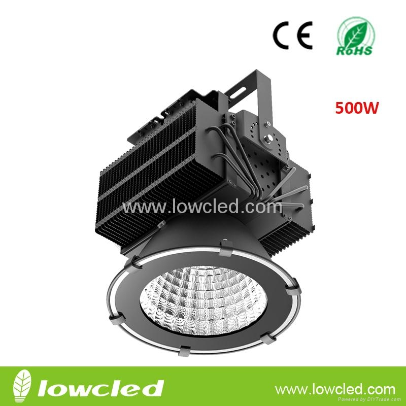 500W high power IP65 CREE XTE+MEANWELL LED High Bay Light with CE+EMC+LVD+ROHS