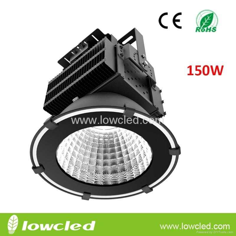 150W high power IP65 COB+MEANWELL LED High Bay Light with CE+EMC+LVD+ROHS