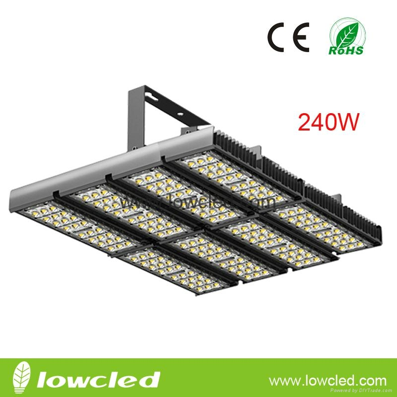 240W Cree chipset meanwell driver led tunnel flood light with ce, rohs saa, c-tick