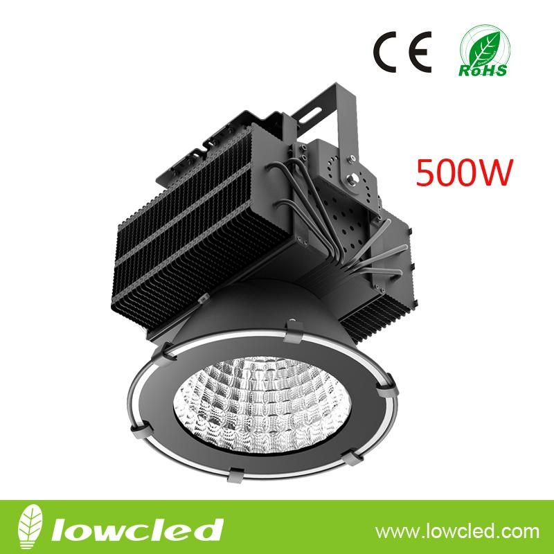 500W high power IP65 CREE XML-2+MEANWELL LED High Bay flood Light with CE+ROHS
