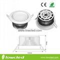 LOWCLED 12W COB  led downlight wih CE, ROHS