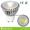 5W GU10 COB dimmable LED high power spot light, bulb indoor, CE, ROHS rated