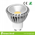 7W GU10 COB LED high power spot light,