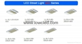 IP65 30W/40W/50W/60W CREE, Bridgelux MEAN WELL led street light with CE, ROHS