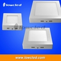 6 inch square 12W China LED panel light surface mounted exporter with CE, ROHS