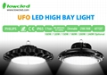 150W UFO Philips+MEAN WELL IP65 LED HighBay light with 5years warranty