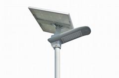 40W semi-integrated solar led street lamp with PIR sensor