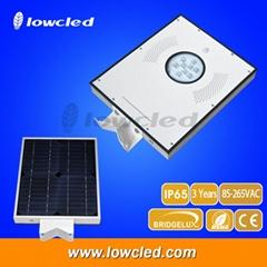 IP65 12Watt all in one integrated solar streetlights, garden lamp