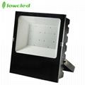 5years warranty 100-277V AC 200W luminaire 130LM/W IP65 LED Flood light CE, ROHS 5