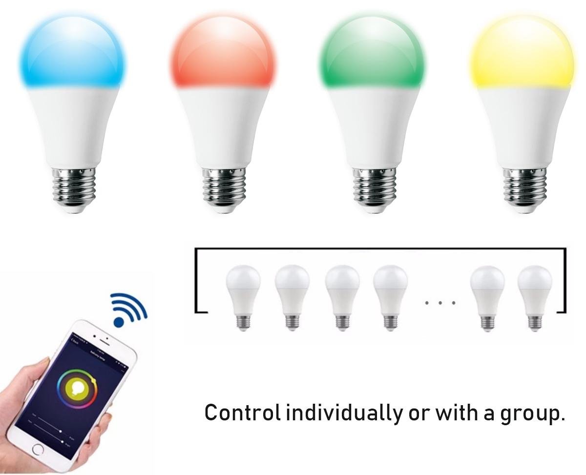 9W E27 Smart Wifi Bluetooth voice control Led Bulbs 3