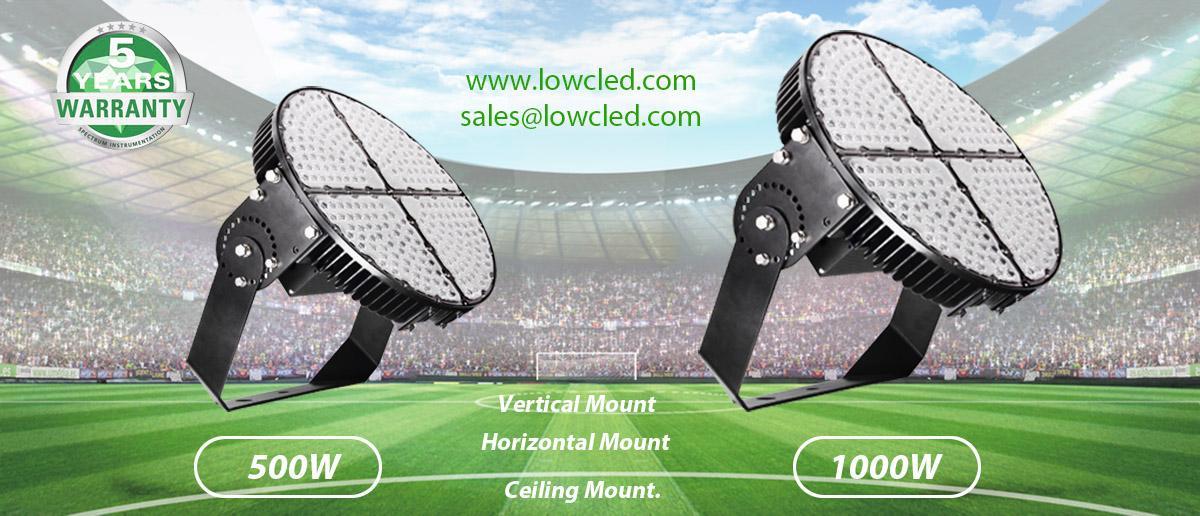 LOWCLED 1000W Sports Lights, Sport light  150LM/W IP65 OUTDOOR Led Stadium Light