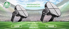 LOWCLED 1000W Sports Lights, Sport light  150LM/W IP65 OUTDOOR Led Stadium Light