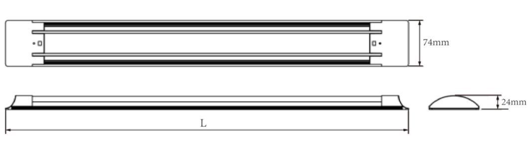 Aluminum Slim 2ft 4ft 18W 36W Led Linear Light Fixtures led batten light 4
