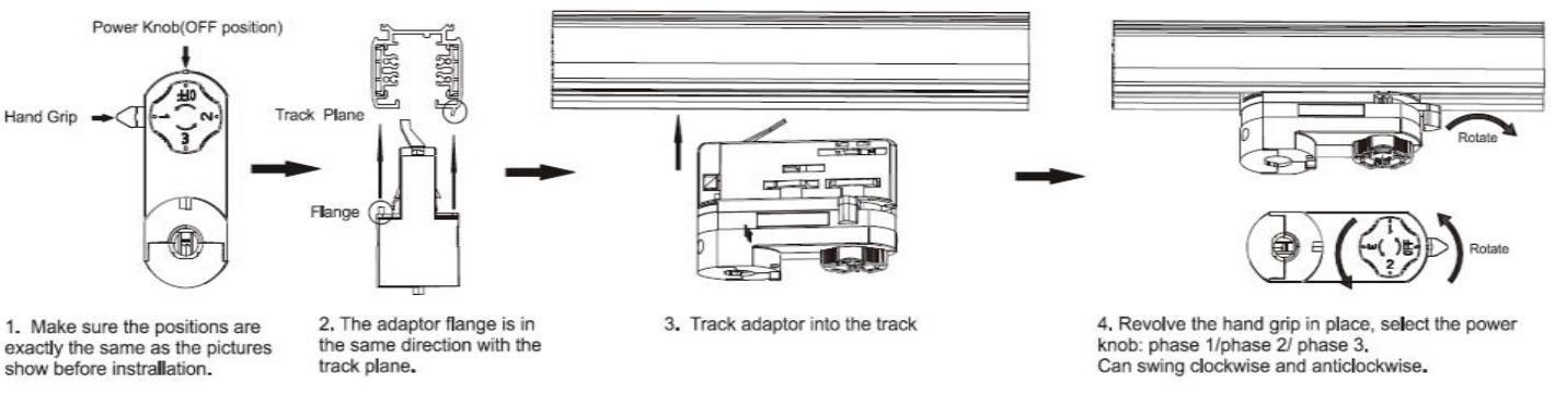 Lowcled 25W cob led spot track light, high quality design LED track light 8
