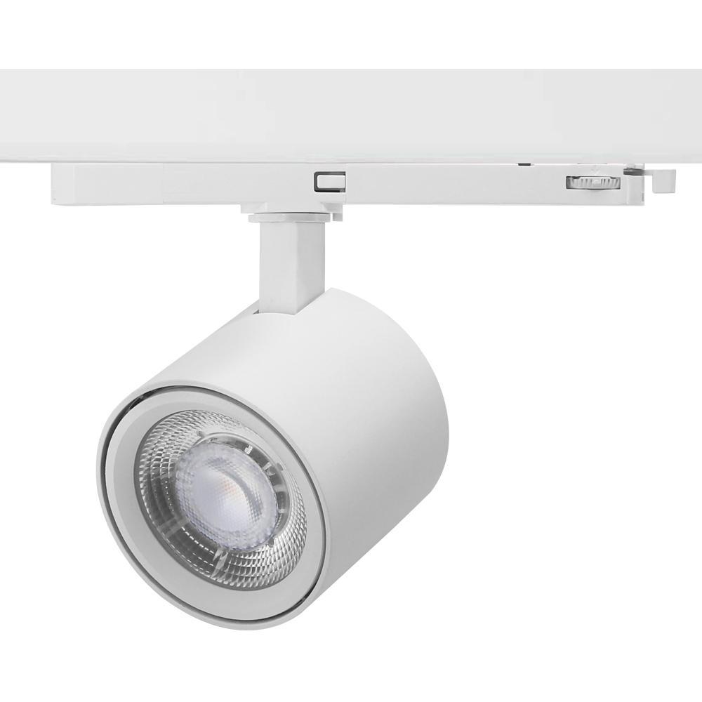 Shop Lighting Spot LED Track Light 25W Ra90 Sliver Color Track Lights 3
