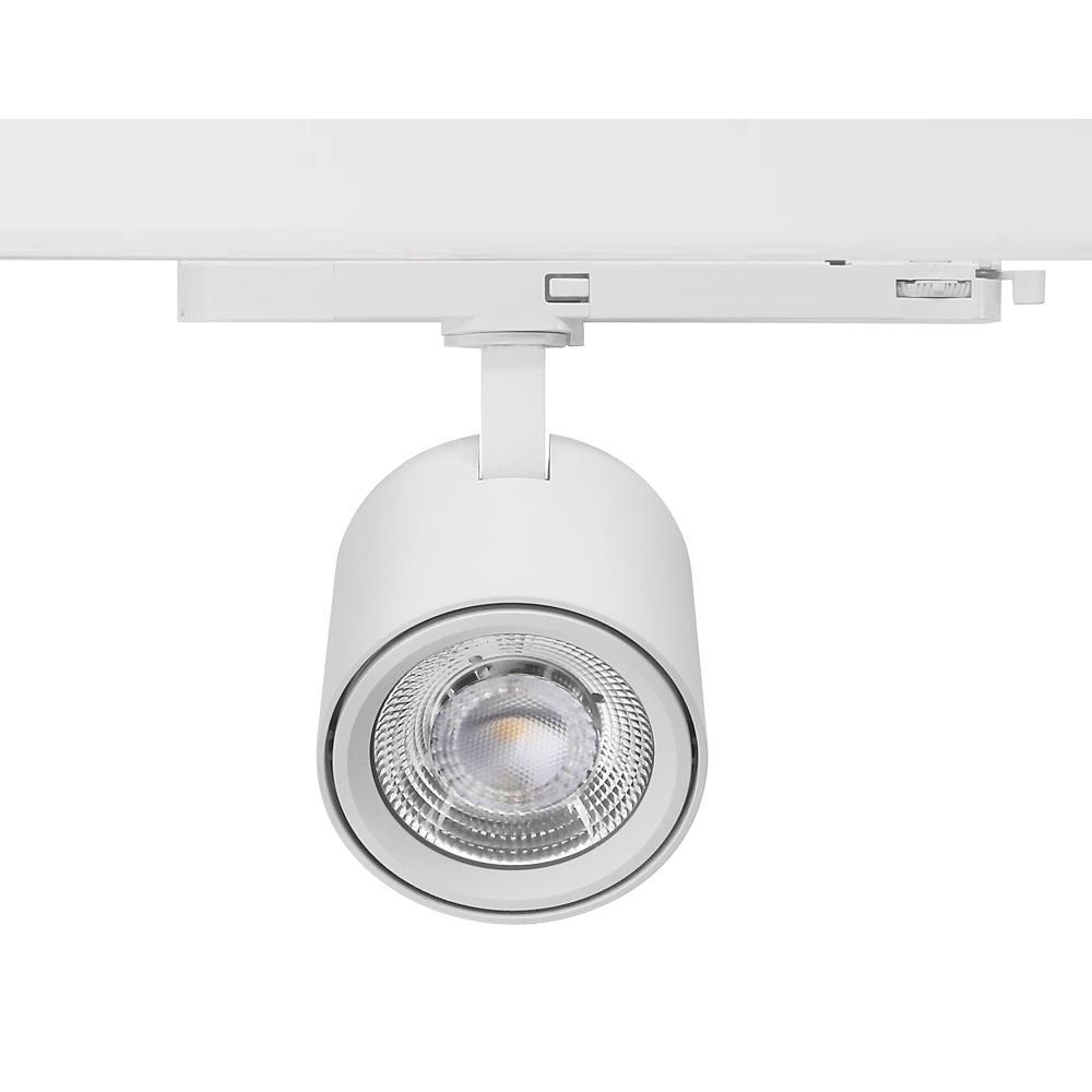 Shop Lighting Spot LED Track Light 25W Ra90 Sliver Color Track Lights 1