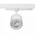 Shop Lighting Spot LED Track Light 25W Ra90 Sliver Color Track Lights