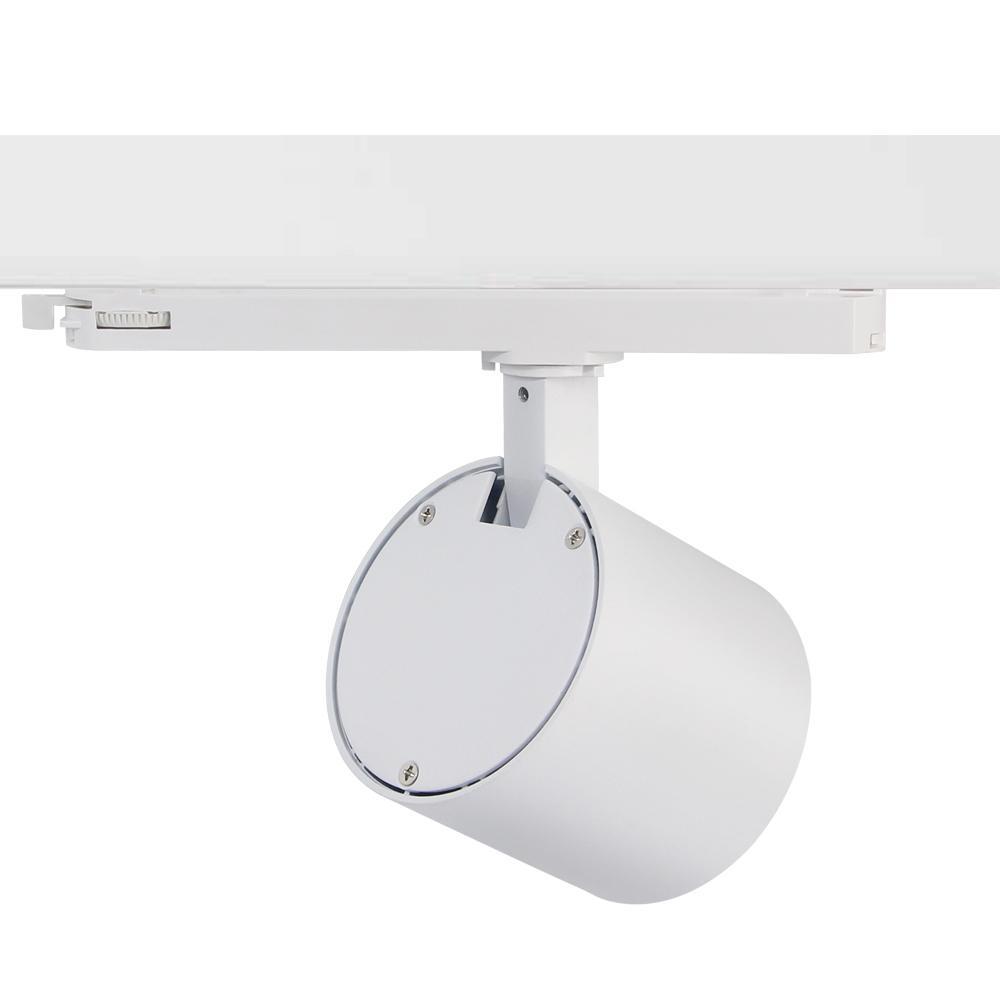 Shop Lighting Spot LED Track Light 25W Ra90 Sliver Color Track Lights 2