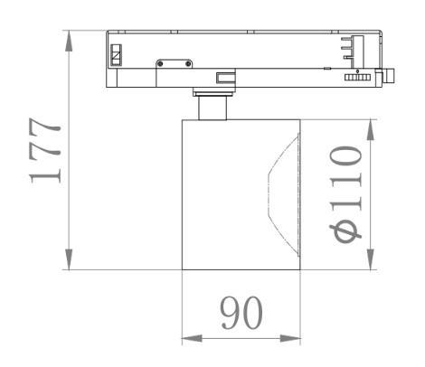 Cri 97 cob led track light commercial shop ceiling 3 circuit cob track light led 8