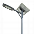 3years warranty IP65 semi-integrated solar led street light street lamp 50W