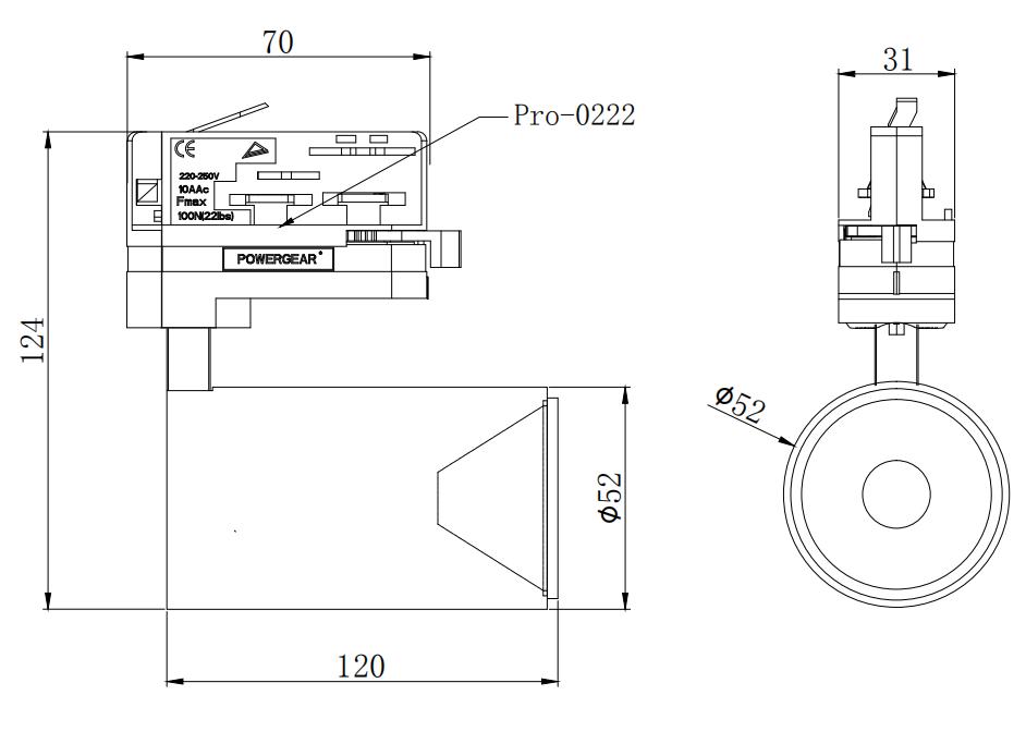 10W LED track light, led shop light, led track lighting 5