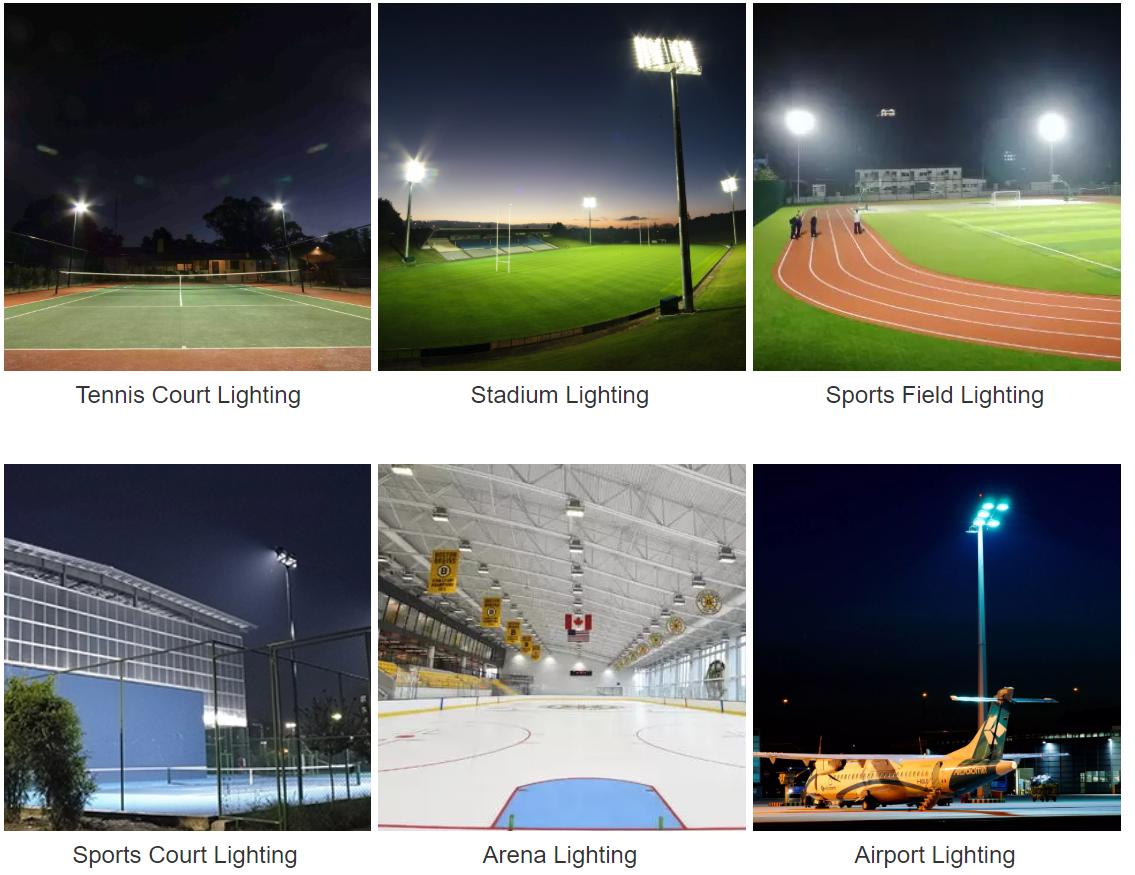 1000W 120LM/W IP65 IP66 LED Floodlight stadium light Sports lighting 9
