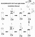GU10 E27 MR16 LED Spot Track Light Holder