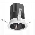 COB round 12W modular led downlight