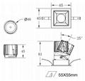 COB Square 8W modular led downlight