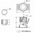 COB round 10W trimless modular led downlight