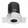 COB round 12W trimless modular led downlight
