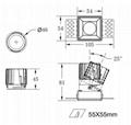 COB Square 8W trimless modular led downlight