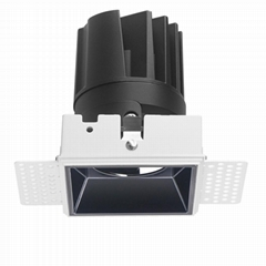 COB Square 15W trimless modular led downlight