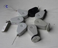 Plastic Teardrop Retractors and Tethers for Retail Store Displays