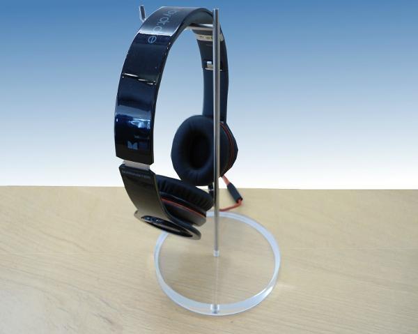 亚克力挂钩耳机架  耳机座有机玻璃金属耳塞展示架 1