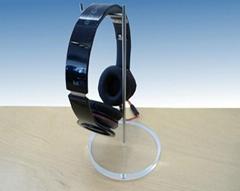 亚克力挂钩耳机架  耳机座有机玻璃金属耳塞展示架
