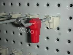 貨架挂鉤防盜小紅鎖扣 數碼賣場防盜配件貨架挂鉤鎖