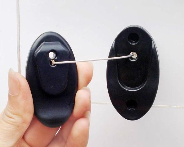 防盗拉线器 自动伸缩防链 钢丝绳拉线盒 收线器 易拉扣 防盗盒 4